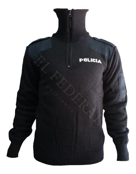 Tricota Azul Policial Forrada Con Abrigo - Térmica