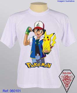 Camiseta Personalizada Infantil Desenhos Pokémon