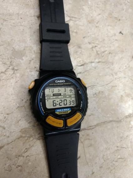 Relógio Casio Antigo Japones Jog & Walk Jc 11