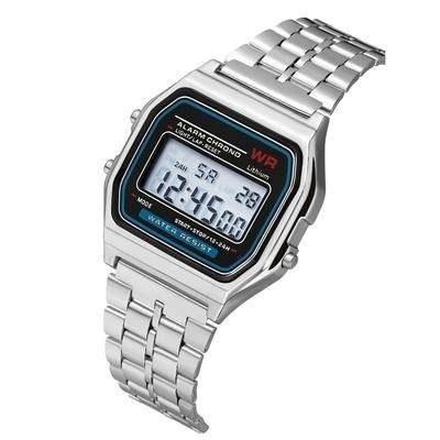 Relógios Feminino Casio Digital Aço Prata Dourado Rose