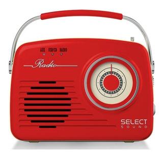Radio Vintage Select Sound Análogo Recargable Bluetooth