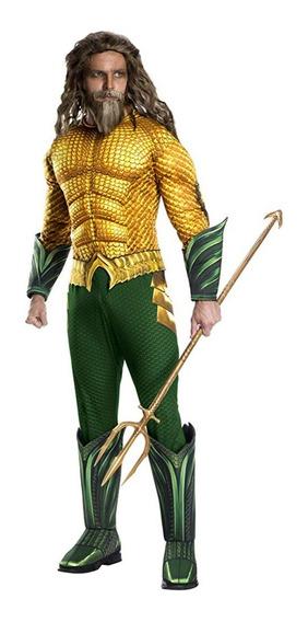 Disfraz Hombre Aquaman Original Talla L Y Xl