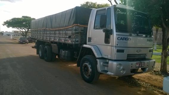 Caminhão Carroceria Graneleira Ford Cargo 2422 Maxturbo.