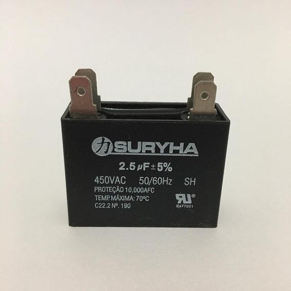 Capacitor 2.5uf +-5% 450vac Com Terminal Ar Condicionado