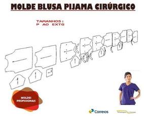 Kit Molde De Blusa De Pijama Cirurgico Do P Ao Extg