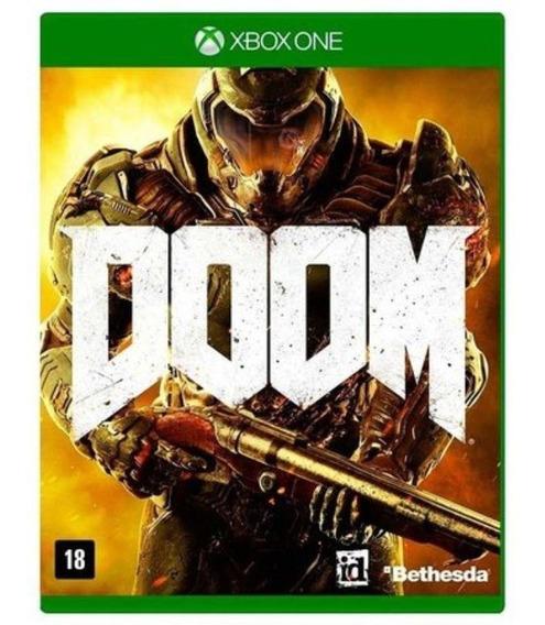 Doom Xbox One Midia Fisica Seminovo Perfeiro