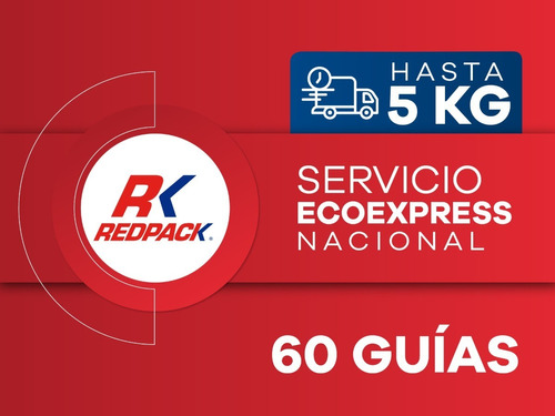 60 Guías Prepagadas Ecoexpress Hasta 5 Kg