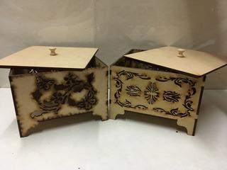 Caja Para Caramelos Y Bombones 15x15x8cm