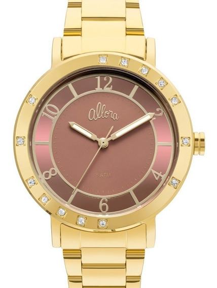 Relógio Allora Feminino Dourado - Al2036ffw/4j