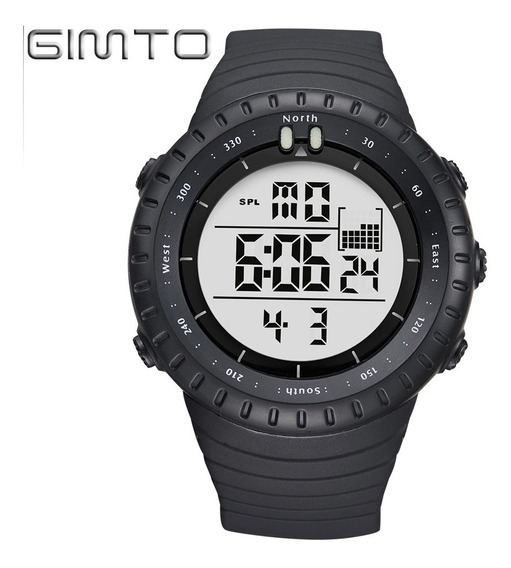 Relógio Digital Gimto Ots Militar Casual Esportivo Black