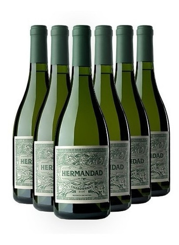 Vino Hermandad Chardonnay 750ml Flia Falasco X 6