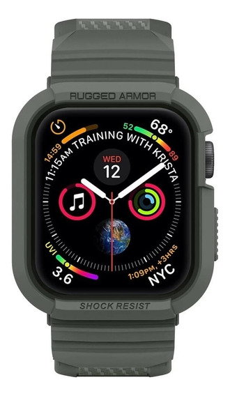 Spigen - Correa Rugged Armor Para Apple Watch 44 Mm - Verde