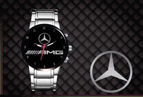 Relógio De Pulso Personalizado Logo Mercedes Amg Gt Gtr