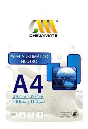 Papel Sublimatico Fundo Azul Chinamate