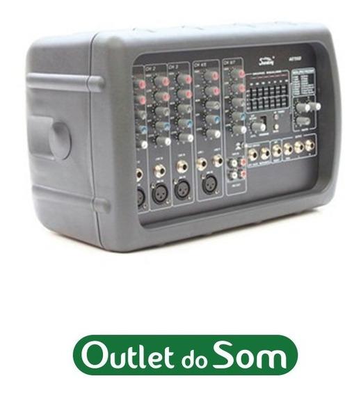 Mixer Amplificado 7 Canais/200w 4oh/eq/efx Soundking Ae72gd