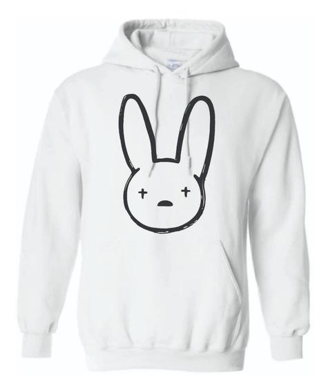Sudadera Bad Bunny Conejo Logo Hombre Mujer