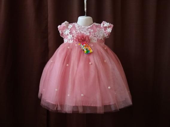 Vestido Para Niña Batita Bebe Varios Colores