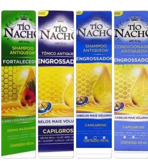 Kit Tio Nacho 1 Sh Engrossador/1 Fortalecedor/1 Tônico/1cond