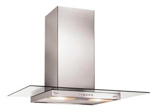 Extractor cocina Whirlpool WAI63 ac. inox. y vidrio de pared 52cm x 60cm inoxidable