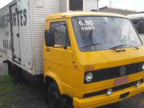 Volkswagen Vw 6.90 Baú 1985 Freio A Ar E Turbo