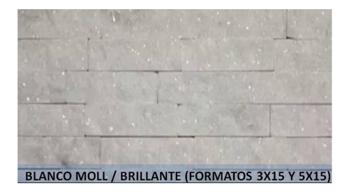 Spacatto - Espacato - Marmol Brillante Blanco Moll 3x15