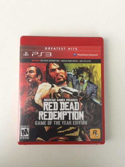 Red Dead Redemption Ps3 Mídica Física