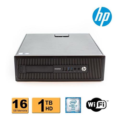 Computador Hp Elitedesk 800 Sff I7 4ª Geração 16gb 1tb