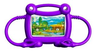 Funda Protector Tablet 7 Pulg. Bumper Antigolpe Violeta Bgh