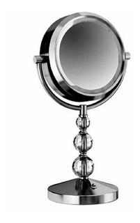 Espelho Para Maquiagem Em Aço Inox Com Luz Decoração Quarto