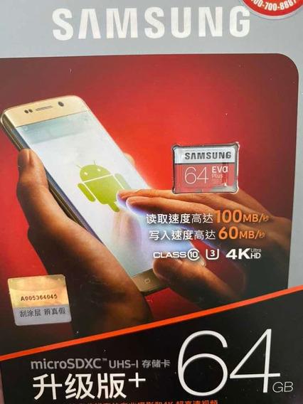 Cartao Memoria 64 Gb Samsung Original, Lacrado, Queima Total