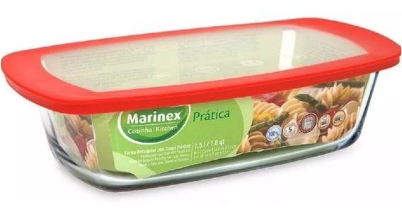 Budinera Marinex Facilita 1.5 Litros Tapa Vidrio Reforzado