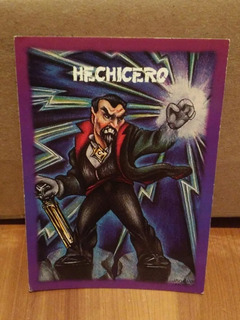 Tarjeta Hechicero Monstruos De Bolsillo Sonrics Vintage 1994