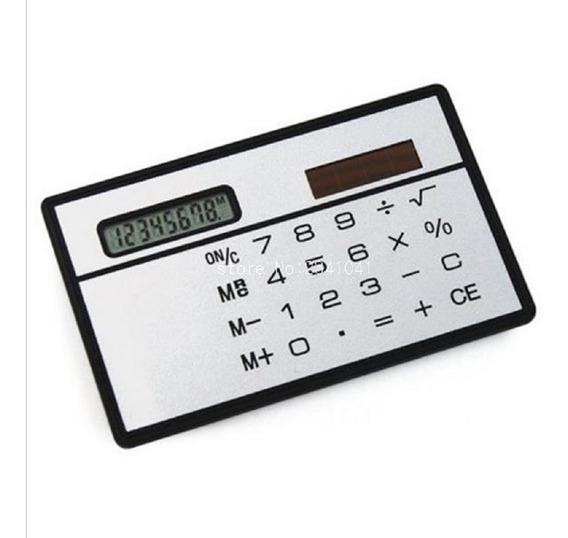 Calculadora De Bolso Solar Mini Cartão Fina Estudante Escola