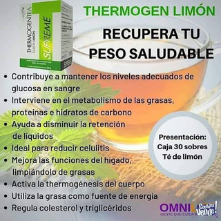 Thermogen Tea Limon X 2 Cajas (60 Sobres)