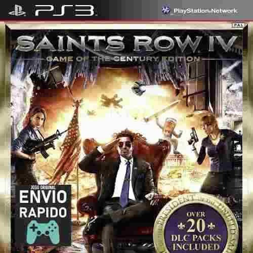 Saints Row 4 + Todas As Dlcs Jogos Ps3 Original