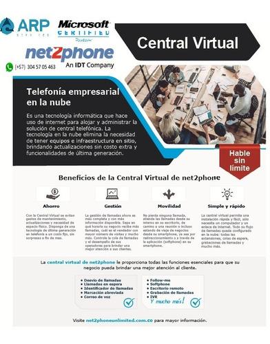 Central Virtual Pbx Ip - Numero Fijo - Llamadas Ilimitadas