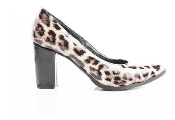 Zapatos Mujer Stilettos Taco Palo Cómodos Animal Print