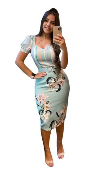 Vestido Evangelico Roupa Social Feminina + Cinto Exclusivo