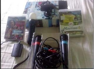 Combo Ps Move Ps3 + Camara + 2 Juegos2 Microfono Todo Origin