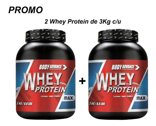 2 Whey Protein 3 Kg C/u. Proteína Pura. Body Advance