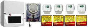 Alarme Anunciador Porta Aberta C/ 4 Sensor Sem Fio + Bateria