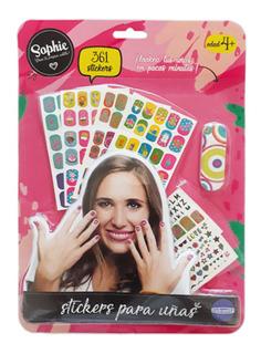 Kit De 60 Stickers Para Uñas Diseños Infantiles 6385