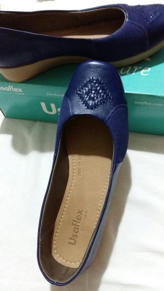 Sapato Usaflex Azul,novo,39,super Confortável,ótimo Preço.