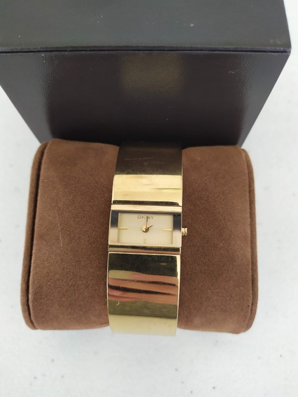 Relógio Original Donna Karan Dkny Dourado Estilo Bracelete