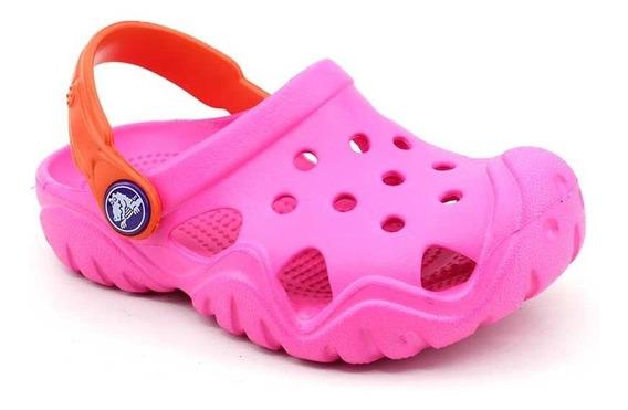 Crocs Clog Infantil Swiftwater Original Pink Loja Pixolé