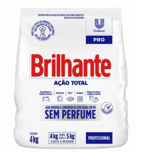 Sabão Em Pó Sem Perfume Brilhante Ação Total 4kg