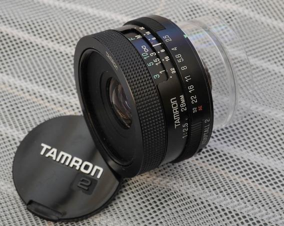 Tamron Adaptall 28mm F2.5 02b Canon Nikon M42