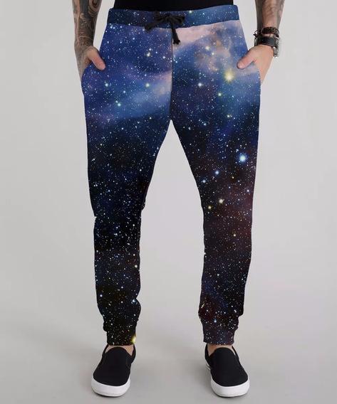 Calça Moletom Masculina Tumblr Universo Galaxy Universe
