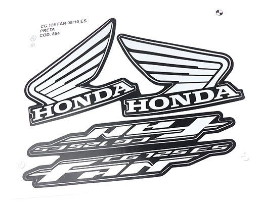 Adesivo Moto Fan125 Es 2009-10 Preta
