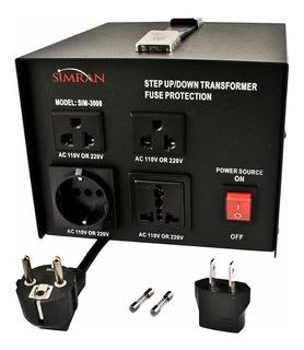 Simran Sim -3000 Transformador Voltaje Ac 110v / 220v / 240v